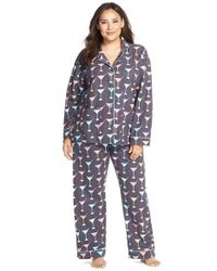 Pj Salvage | Gray Print Flannel Pajamas | Lyst