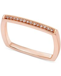 Macy's - Multicolor Diamond Accent Square Band Ring In 14k Gold, Rose Gold Or White Gold - Lyst