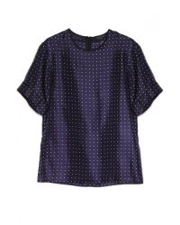 Rag & Bone | Blue Rudy Printed Silk Top - Dots | Lyst