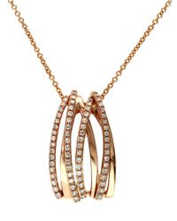 Effy | Metallic Pave Rose 14 Kt. Rose Gold Diamond Crossover Pendant | Lyst