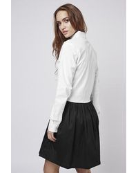TOPSHOP - Black Eve Shirt Dress By Absence Of Colour - Lyst