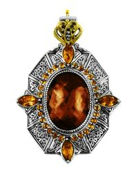 Konstantino - Metallic Sterling Silver & 18 Karat Gold Byzantine Pendant - Lyst