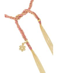 Carolina Bucci - Metallic 'lucky' 18kt White And Pink Gold Virtue Bracelet - Lyst