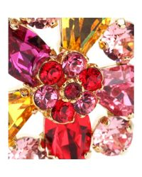 Dolce & Gabbana - Multicolor Crystal-embellished Clip-on Earrings - Lyst