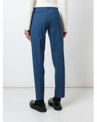 AALTO | Blue Slim Fit Trousers | Lyst