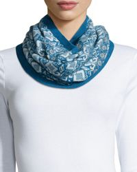 Brora | Blue Fair Isle Cashmere Snood | Lyst