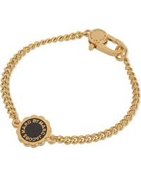 Marc By Marc Jacobs - Black Scalloped Disc Bracelet - For Women - Lyst
