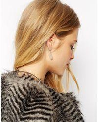 ASOS - Metallic Single Hanging Shard Ear Cuff - Lyst