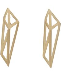 Monique Péan | Metallic Gold Geometric Drop Earrings | Lyst