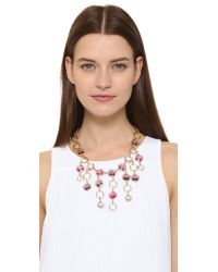 Oscar de la Renta | Purple Framed Crystal Necklace | Lyst