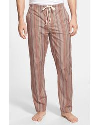 Paul Smith Brown 'iconic' Stripe Cotton Pajama Pants for men