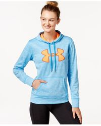 Under Armour | Blue Big Logo Armour® Fleece Hoodie | Lyst