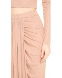 Torn By Ronny Kobo - Pink Scarlet Maxi Skirt - Lyst