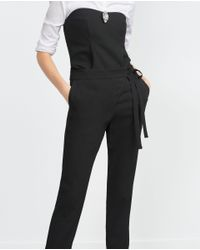 Zara | Black Loose-fit Trousers | Lyst