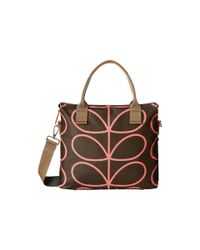 Orla Kiely | Brown Zip Messenger | Lyst