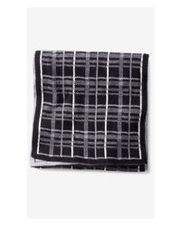 Express | Black Plaid Cotton Scarf for Men | Lyst