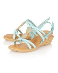 Lotus | Blue Leona Open Toe Sandals | Lyst