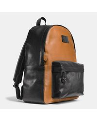 COACH | Black Campus Backpack In Sport Calf Leather for Men | Lyst
