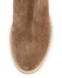 Vince - Natural Grayson Suede and Leather Ankle Boots - Lyst