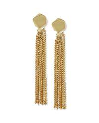 Kenneth Cole - Metallic New York Goldtone Geometric Bead Chain Tassel Drop Earrings - Lyst