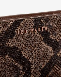 Ted Baker - Brown Exotic Leather Matinee Purse - Lyst