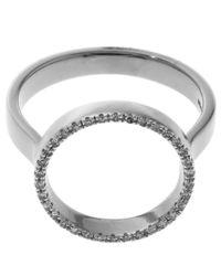 Monica Vinader - Metallic Gold-plated Diamond Naida Mini Circle Open Ring - Lyst