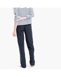 J.Crew | Green Midnight Plaid Flannel Pajama Pant | Lyst