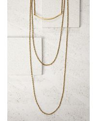 Forever 21 | Metallic Soko Layered Chain And Bar Necklace | Lyst