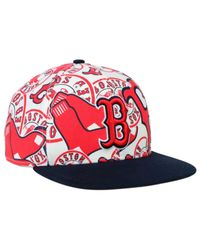 390abe7a 47 Brand Boston Red Sox Snapback Cap in White for Men - Lyst