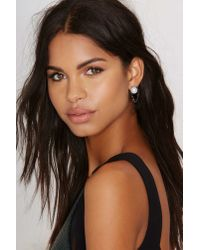 Nasty Gal | White Hang Tough Chain Earrings | Lyst