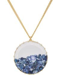 """Renee Lewis - Blue Sapphire & Gold """"Shake"""" Pendant Necklace - Lyst"""