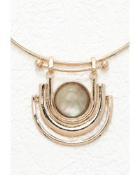 Forever 21 - Metallic Half-circle Pendant Collar Necklace - Lyst