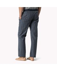 Tommy Hilfiger | Blue Cotton Woven Loungewear Pant for Men | Lyst