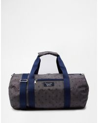 Original Penguin - Gray Duffle Bag With All Over Print for Men - Lyst
