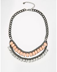 Pieces | Metallic Lakia Necklace | Lyst