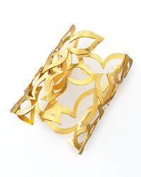Herve Van Der Straeten - Metallic Flower Cuff - Lyst