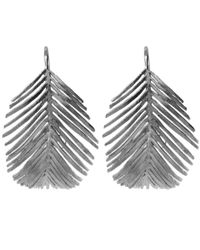 Alex Monroe - Metallic Silver Large Palm Hook Earrings - Lyst