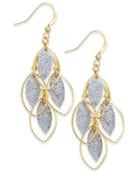 Style & Co. - Metallic Glitter Navette Kite Earrings - Lyst