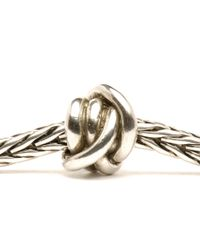 Trollbeads - Metallic Lucky Knot Silver Charm Bead - Lyst