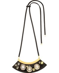 Marni | Metallic Strass Glass-cabochon Necklace | Lyst