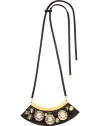 Marni - Metallic Strass Glass-cabochon Necklace - Lyst