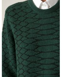 Cedric Charlier - Green Snakeskin Pattern Dress - Lyst