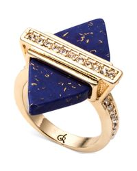 RACHEL Rachel Roy | Blue Goldtone Lapis Crystal Spike Ring | Lyst