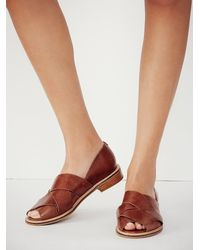 Free People | Brown Jeffery Campbell Womens Emsworth X Slip On | Lyst