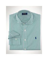 Polo Ralph Lauren | Green Striped Stretch Poplin Shirt for Men | Lyst