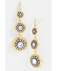 Freida Rothman | Metallic 'hamptons' Nautical Button Drop Earrings | Lyst