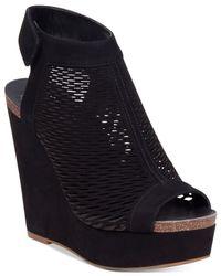 Vince Camuto - Black Kyrene Wedge Sandals - Lyst