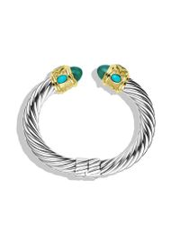David Yurman - Renaissance Bracelet with Green Onyx Turquoise and Gold - Lyst