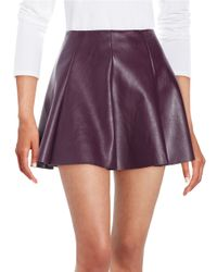 Lord & Taylor - Purple Gorde Faux Leather Skirt - Lyst