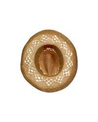 San Diego Hat Company - Brown Rhc1020 Raffia Cowboy Hat With Macramae - Lyst